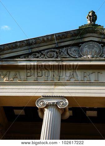 art gallery sheffield column roman building landmark
