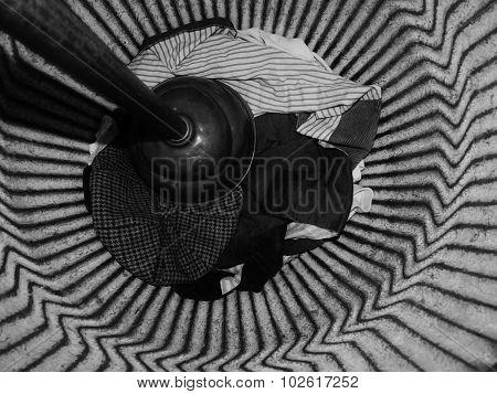 pail bucket old grey plunger pattern kitchen washing