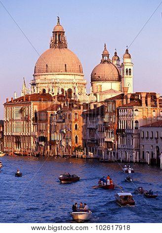 Gondola regatta, Venice.