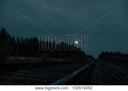 sunset field train rails