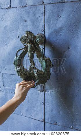 Hand On A Door Handle