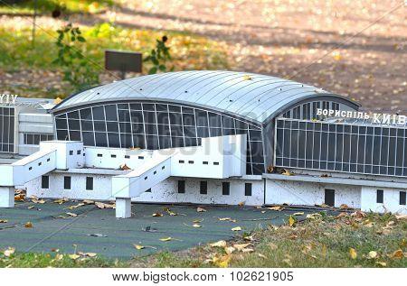 KIEV, UKRAINE - September 23, 2015: Entertaiment Park Ukraine in Miniature (Small scale Ukraine). Borispol Airport in Kiev