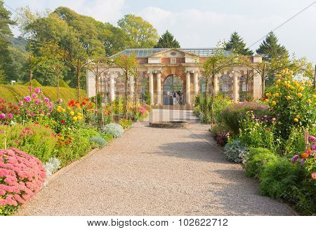 Tyntesfield House near Bristol Somerset England UK a tourist attraction featuring beautiful flowers