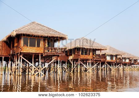 Deluxe Hotel On Inle Lake, Myanmar
