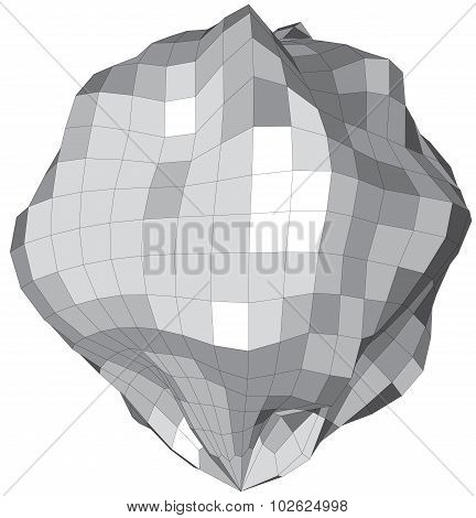 Abstract sphere like stone asteroid