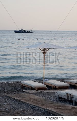 Beach of Adriatic Sea in Budva, Montenegro