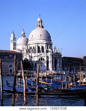 Grand canal and church, Venice.