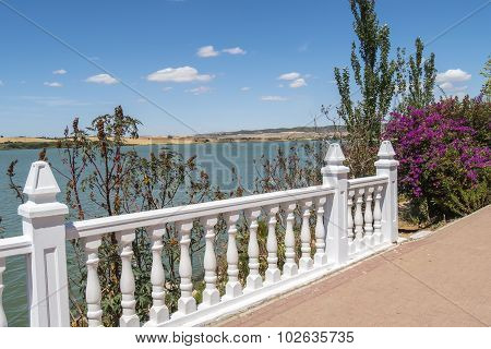 Lake View Of Arcos De La Frontera, Spain