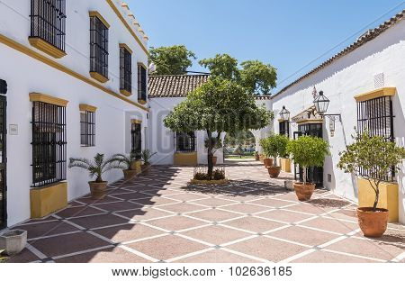 Typical Andalusian Courtyard In Spain