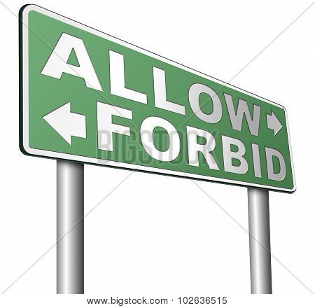 Allow Or Forbid