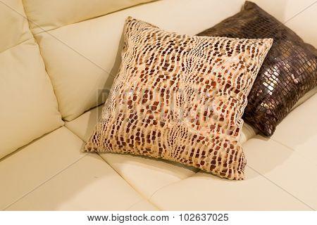 Beautiful Pillow on sofa at  home