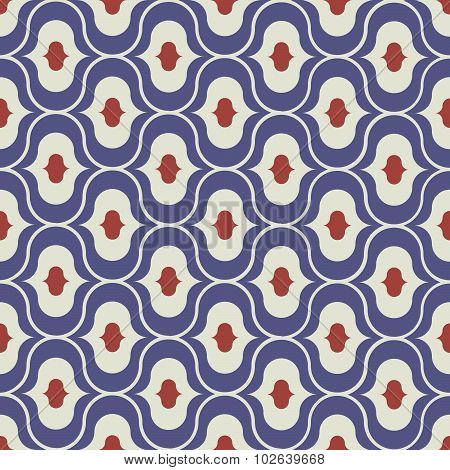 Seamless  pattern from colorful Moroccan tiles, ornaments.