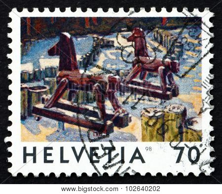 Postage Stamp Switzerland 1998 Hobbyhorses, Toys
