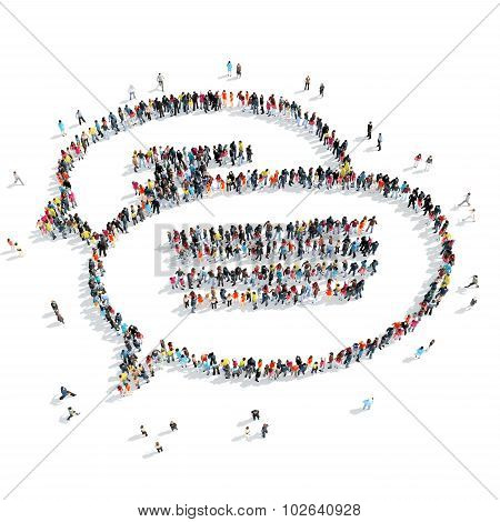 people  shape  chat bubble cartoon