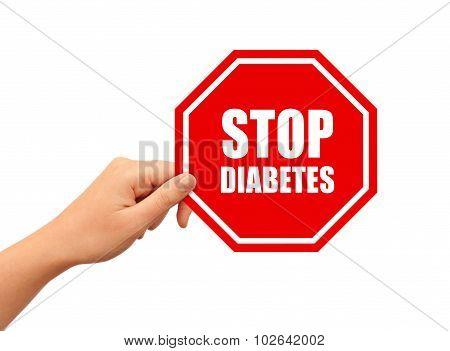 Stop diabetes sign
