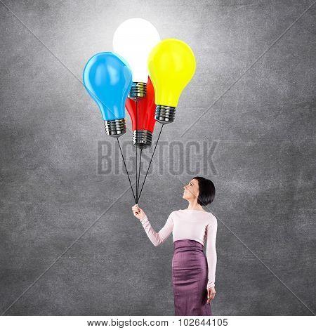 Girl With Lightbulbs