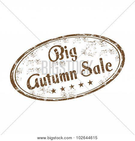 Big autumn sale rubber stamp