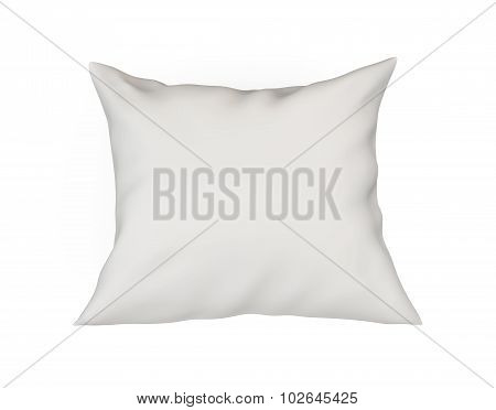 White Cushion Isolated On White