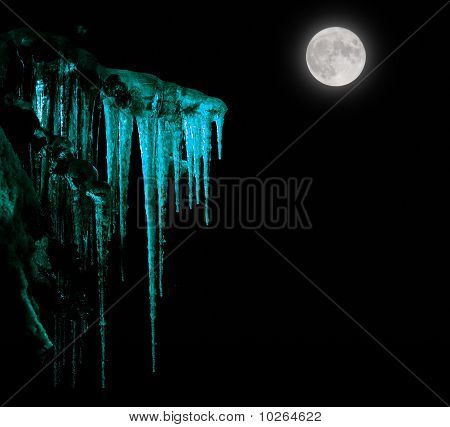 Icicles And The Moon