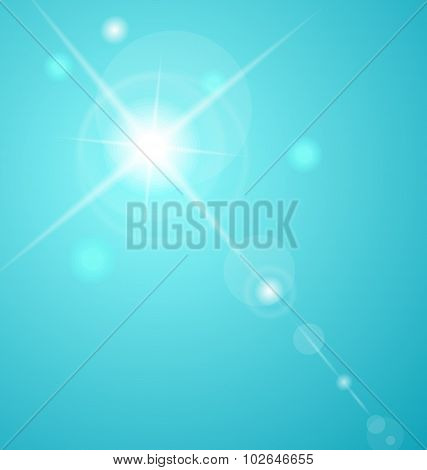 abstract star with lenses flare