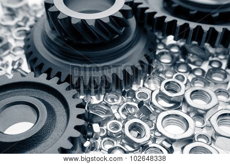 Steel gears and nuts