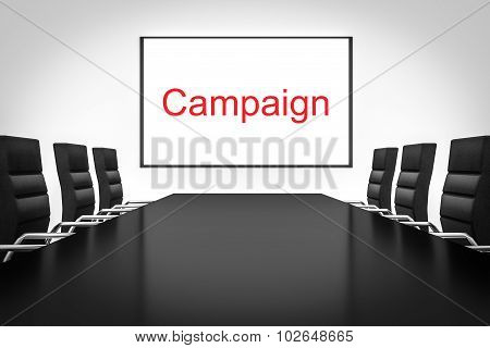 Conference Meeting Room With Whiteboard Campaign