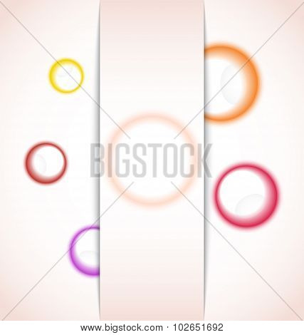 abstract background with multicolor bubble