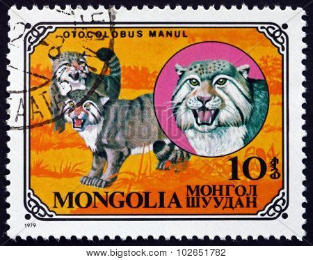 Postage Stamp Mongolia 1979 Manul, Wild Cat