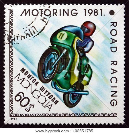 Postage Stamp Mongolia 1981 Road Racing