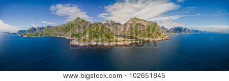 Aerial Of Lofoten Islands