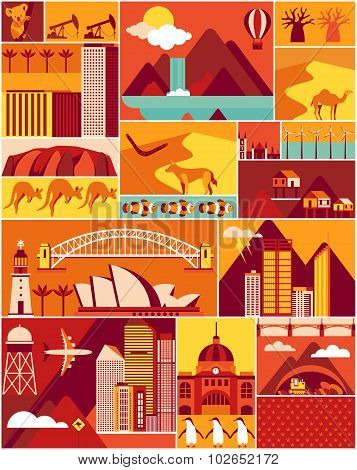 Cartoon Australian pattern