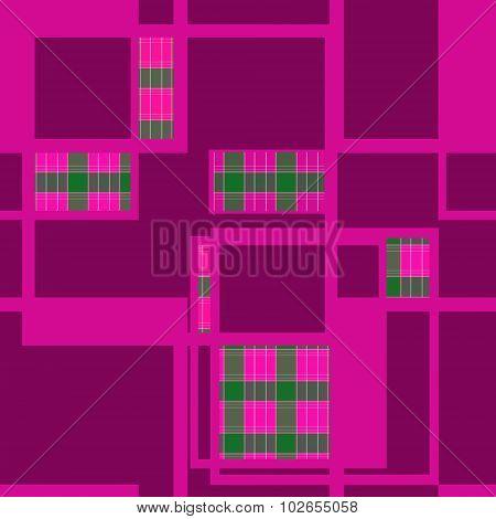 Seamless Retro Geometrical Square Textile Texture Pattern Background
