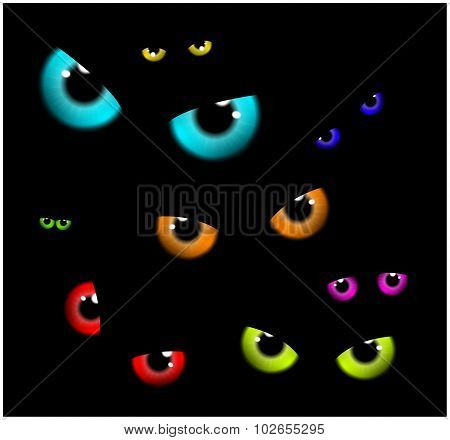Image Of Happy Halloween  Spooky Background Flat Design. Vector Illustration Of Invitation Card With