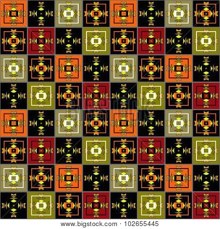 Patchwork Seamless Pattern Ornament Background