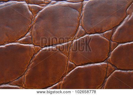 brown leather macro texture