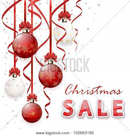 Christmas Sale With Baubles