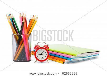 Alarm clock with copybooks