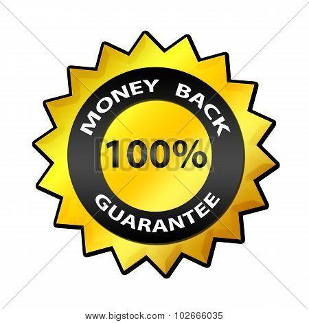 Money Back Guarantee 100 % label