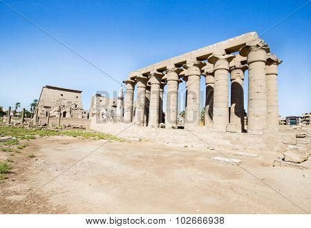 Luxor Temple, a large Ancient Egyptian temple, East Bank of the Nile, Egypt. UNESCO World Heritage