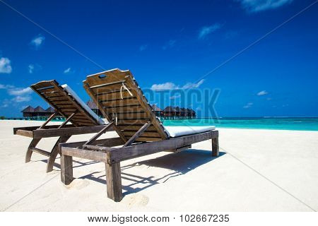 Water bungalows on Maldives
