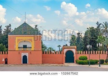 Historic walls in Marrakesh, Morocco