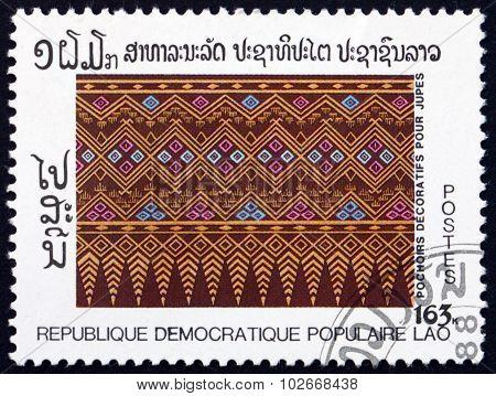 Postage Stamp Laos 1988 Skirt, Decorative Stencil