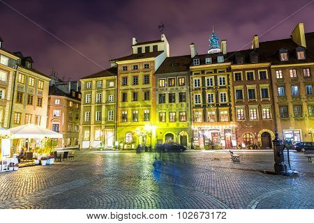 Old Town Sqare In Warsaw