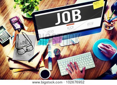 Job Employment Career Occupation Goals Concept