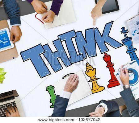 Think Thinking Planning Ideas Creativity Concept