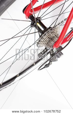 Bicycle Concept. Rear Cassette With Deraileur