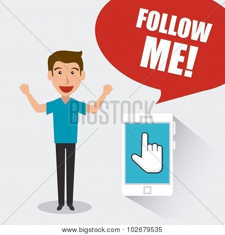 Follow me social and business theme design