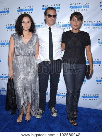 LOS ANGELES - AUG 29:  Rain Phoenix, Joaquin Phoenix and Summer Phoenix Mercy for Animals presents 'Hidden Heroes' Gala  on August 29, 2015 in Hollywood, CA