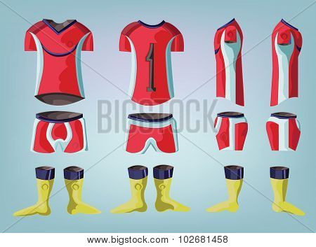 Soccer Uniform Stylish Design.