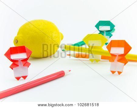 Origami Ninja With Lemon